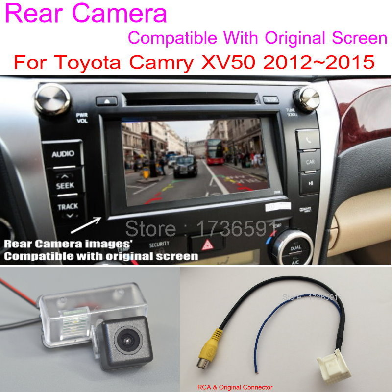 Lyudmila For Toyota Camry XV50 2012~2016 RCA Original Screen Compatible / Car Rear View Camera Sets / HD Back Up Reverse Camera image