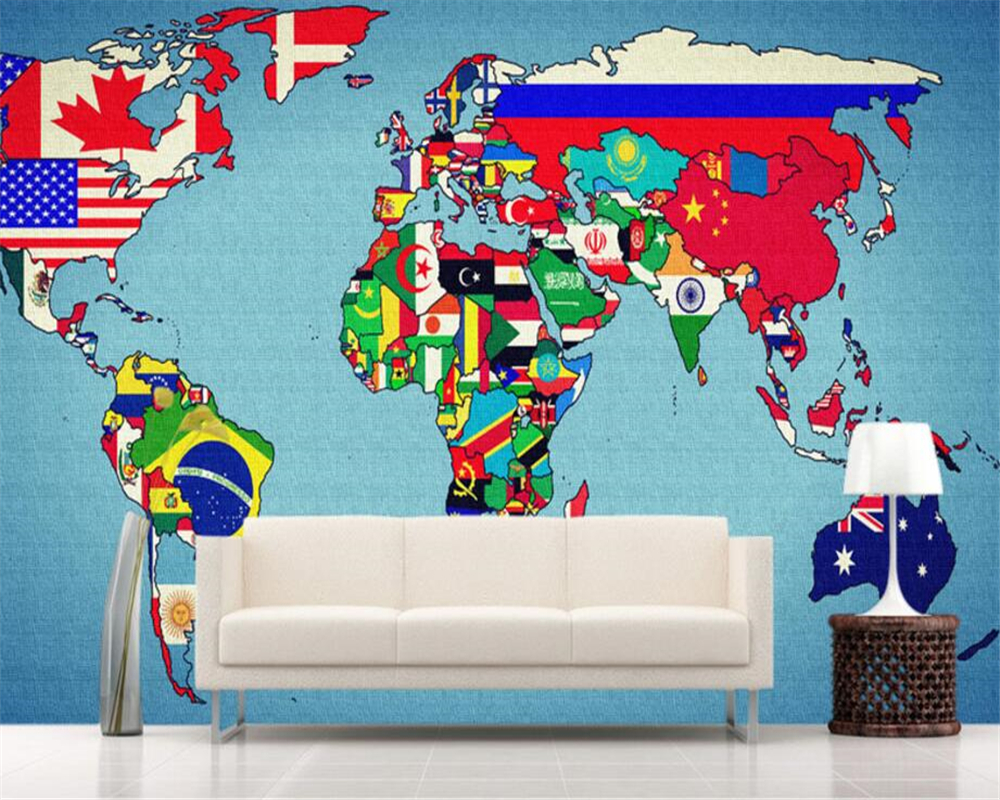 Beibehang custom wallpaper living room bedroom 3d wallpaper creative beibehang custom wallpaper living room bedroom 3d wallpaper creative color flag world map tv background wall 3d wallpaper mural in wallpapers from home gumiabroncs Gallery