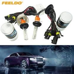FEELDO 1 пара автомобиля 12 В 35 Вт 5259 ксеноновых ламп замена HID фары Singel лампы 6000 К # FD-1970