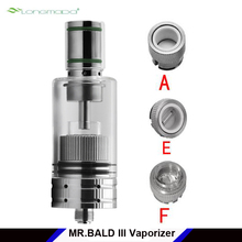 Original Longmada Mr bald III Vaporizer E cig Tank Ceramic Heating Coil Chamber for Wax / Dry Herb Mr.bald 3 Atomizer tank