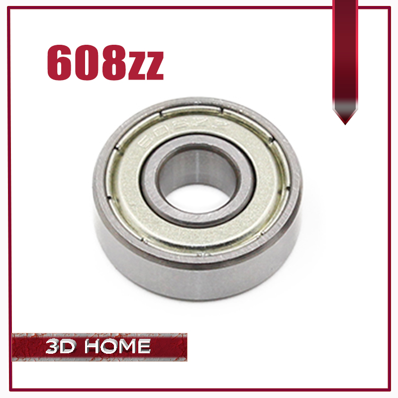 10PCS ABEC-7 Deep groove ball bearing 608ZZ 8X22X7 mm bearing steel 608 ZZ skating bearing for 3D printer image
