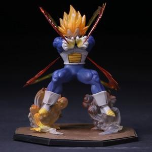 Image 1 - Anime Dragon Ball Z  Vegeta Zero Version Action Figure DBZ Shock Wave Battle Ver.  PVC Collectible Model Toy  15cm