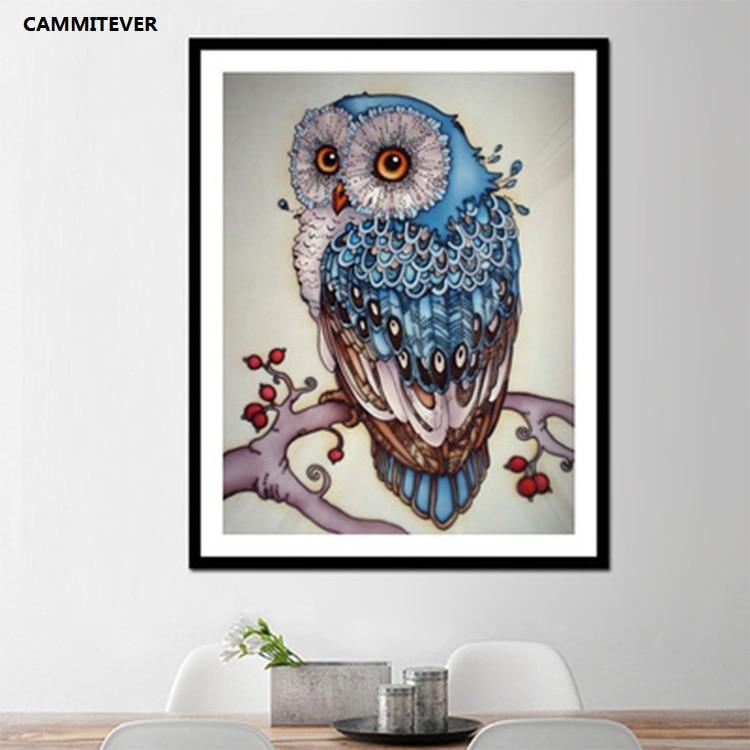 CAMMITEVER Diamond Painting Owl Drill Shiny DIY 5D Beaded Full Drill - ხელოვნება, რეწვა და კერვა - ფოტო 1