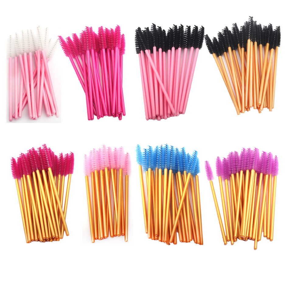 150PCS Disposable Eyelash Brushes Eyebrow Brushes Wand Comb Eye Lashes Makeup Brushes Mascara Wands For Eyelash Extension