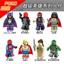 New Legoing Super Heroes Figures Blocks Toys Model Wonder Woman Double-Sided Batman Female Valkyrie Spider Man X Team Gold Wolf(China)