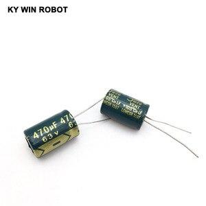 Image 3 - 10 pz Alluminio condensatore elettrolitico 470 uF 63 V 13*20 millimetri frekuensi tinggi Radial Electrolytic kapasitor