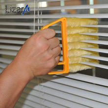 Portable Microfiber Window cleaning brush with washable venetian blind blade cleaner cloth air Conditioner Duster cleaner tool