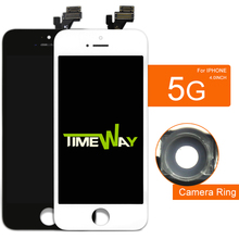 Highscreen Brand New AAA Quality LCD For iPhone 5 Screen With Digitizer Assembly +Camera Holder