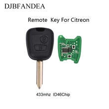 DJBFANDEA 3Pcs/Lot  Remote Car Key For Citroen Saxo Picasso Xsara Berlingo Complete 2Buttons 433MHz ID46 Chip SX9 Blade