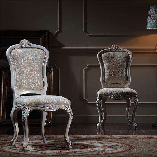 Clic Italian Style Dining Chairs Solid Wood Hand Carved Chair