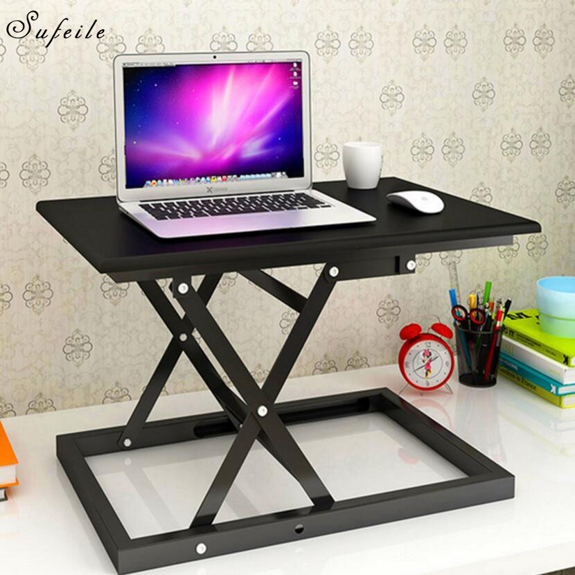 SUFEILE Folding Is A Laptop Desk Simple And Modern Stand Upright Computer Desk Compressible Portable Outdoor Laptop Table Y27D50 blevolo high capacity men wallets male long purses zipper leather money clips business clutch bags coin pocket wallet for men