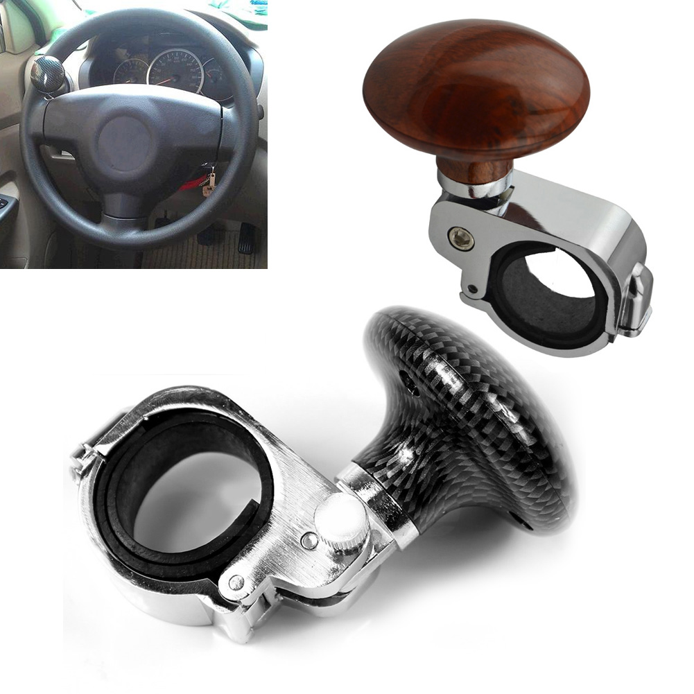 Black/Brown Universal Car Steering Wheel Suicide Spinner Knob Auxiliary Booster Aid Control Handle Handle Knob Booster Y25 taiwan made high quality car steering wheel knob ball hand control power handle grip spinner hand control power ball handle grip