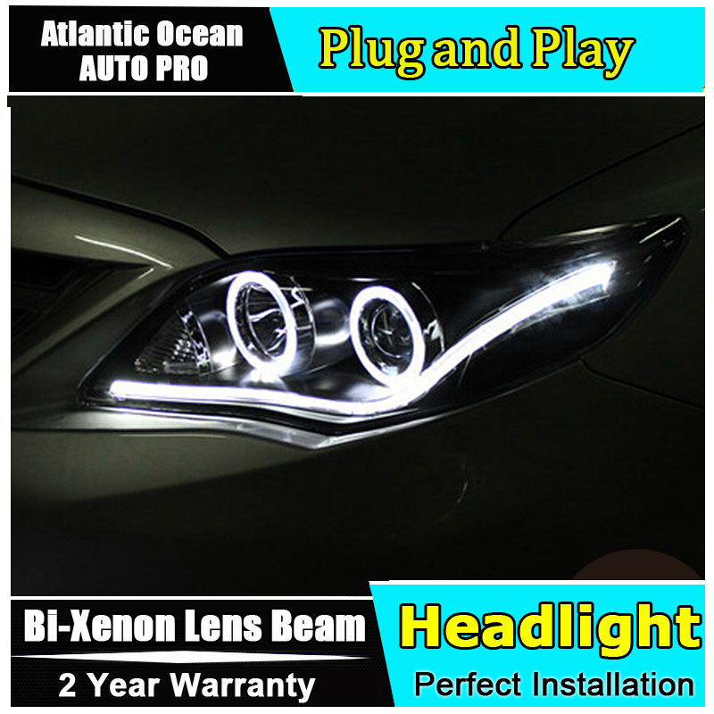 Auto Lighting Style LED Head Lamp for Toyota Corolla led headlights 2011 Altis angel eye led drl HID KIT Bi-Xenon Lens low beam hireno headlamp for mercedes benz w163 ml320 ml280 ml350 ml430 headlight assembly led drl angel lens double beam hid xenon 2pcs