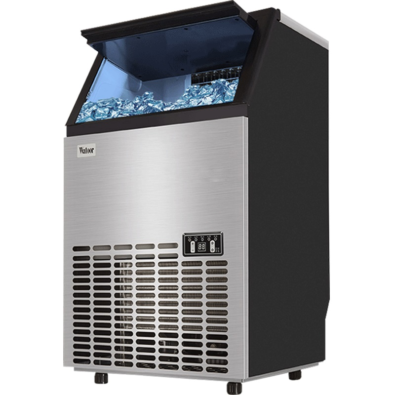 Ice maker 55kg Commercial Tea shop KFC Large Small bar Fully automatic Square ice cube Production machine air dragon portable air compressor