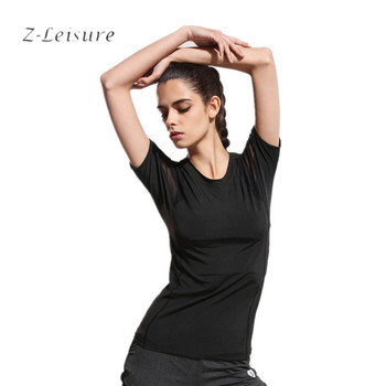 Mesh Running ShirtsSports Apparel Fitness Tanks  Tops Sport T Shirt Woman Gym Athletic Workout Running Clothes For Women  MST003