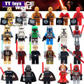Single Sale Star Wars Mini Dolls Darth Vader PG633 Darth Maul Lightsaber Yoda Sith with Weapon Building Block  Gift Toys