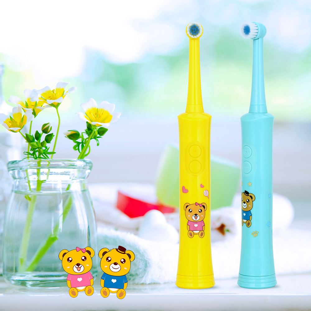 New Advanced Children Electric Toothbrush Cartoon Pattern Kid Rotating Teeth Tooth Brush Soft Replacement Head Low Noise 2 ModesNew Advanced Children Electric Toothbrush Cartoon Pattern Kid Rotating Teeth Tooth Brush Soft Replacement Head Low Noise 2 Modes