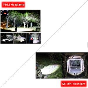 Image 5 - ไฟหน้าแบบชาร์จไฟได้ Super Bright T6/L2 ซูมไฟหน้ากันน้ำไฟฉายไฟฉายใช้แบตเตอรี่ 2*18650 (ไม่รวม)