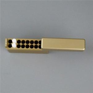 Image 1 - Black Gold Silver 18 Holes Aluminum Storeage Box For IQOS 18PCS Cigarette Holder for IQOS Cigarette Cartridge Case
