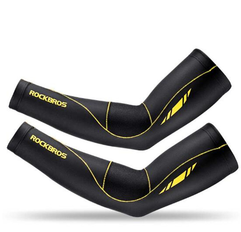 ROCKBROS Summer Cycling Sleeves Women Men Protection Arm Warmers Cycling Basketball Bike Arms Sleeves Sport Accessories in Arm Warmers from Sports Entertainment
