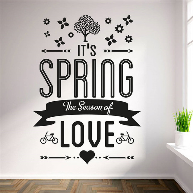 sweet decals 'it's spring the season of love' vinyl wall art