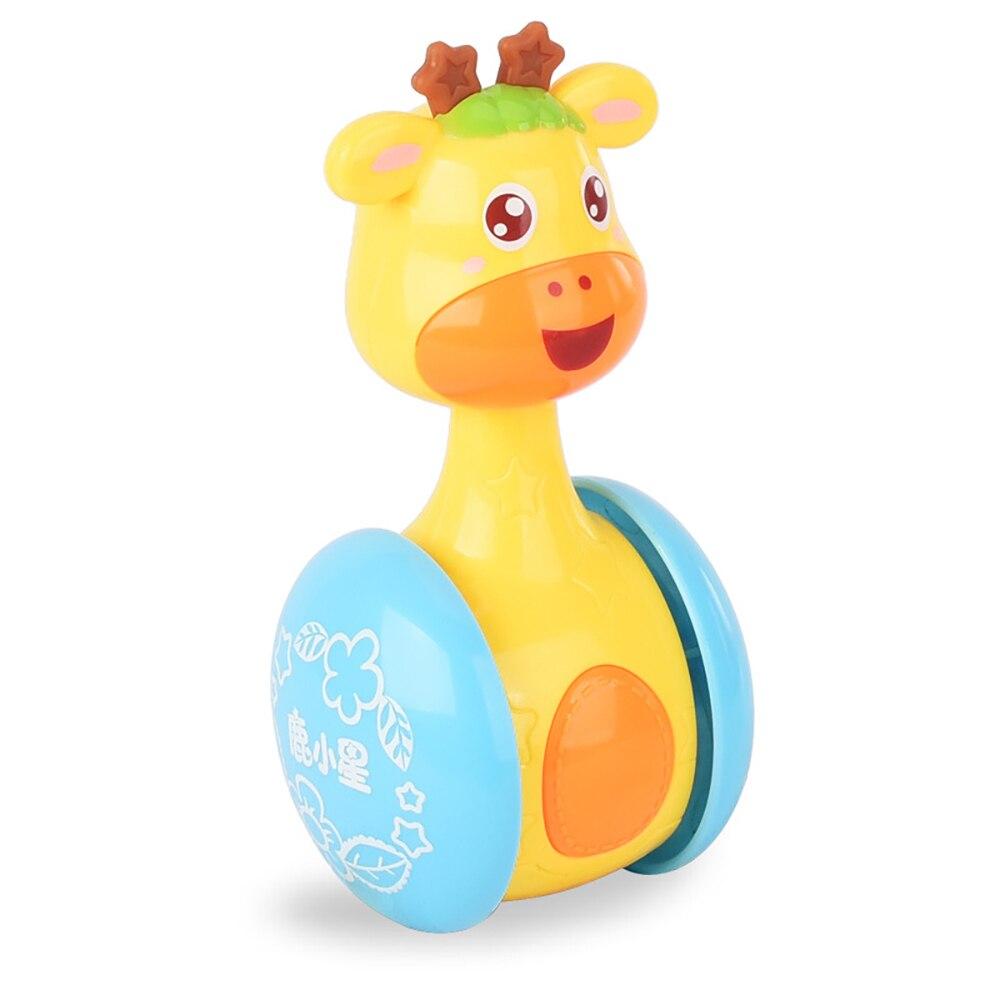 Yuanlebao Ընձուղտ Baby Tumbler Cute Rattles Ring Bell Doll - Խաղալիքներ նորածինների համար - Լուսանկար 3