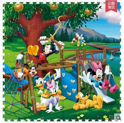83f943124de Mickey Mouse   princess   Winnie EVA foam mats   Cartoon puzzle floor    baby crawling