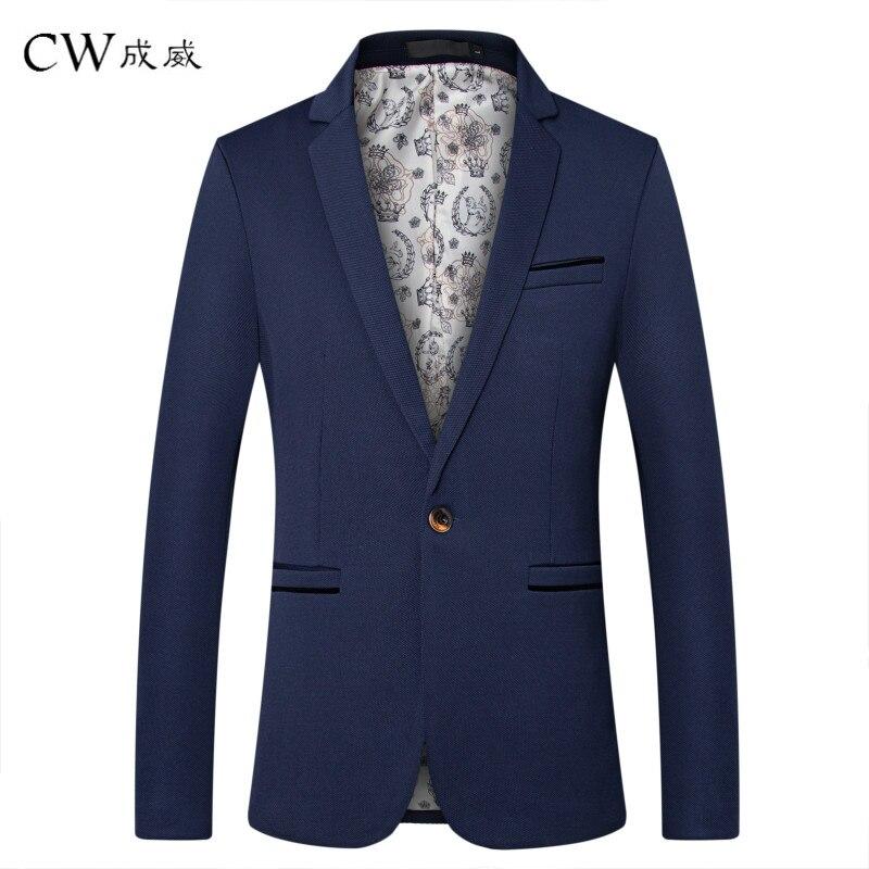 Cw Marke Kleidung Blazer Männer 2018 Eine Taste Männer Blazer Slim Fit Kostüm Homme Anzug Jacke Maskuline Blazer M-5xl Smoking Kleid Novel (In) Design;