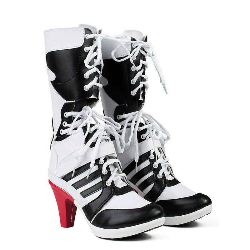 a5e961e5f064 joker and harley quinn suicide squad costumes boots shoes cosplay costume  for adults sexy for halloween