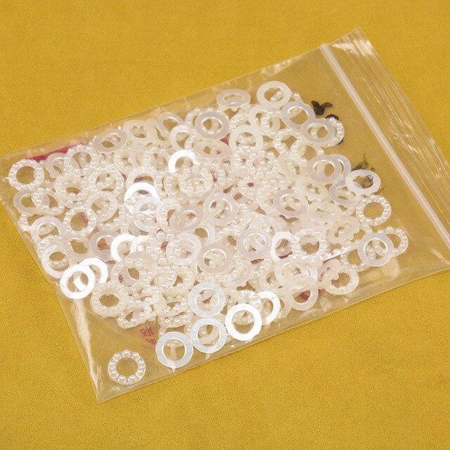Фото 10 мм 100 шт белые плоские круглые акриловые бусины для украшения цена