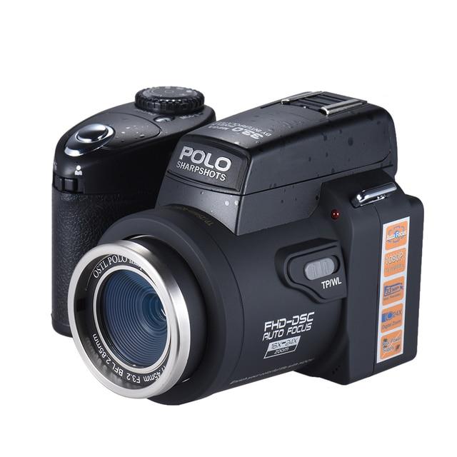 Sharpshots Auto Focus Digital Camera 33MP 1080P 30fps FHD 8X w/ Standard + 0.5X Wide Angle + 24X Telephoto Long Lens PC Cam