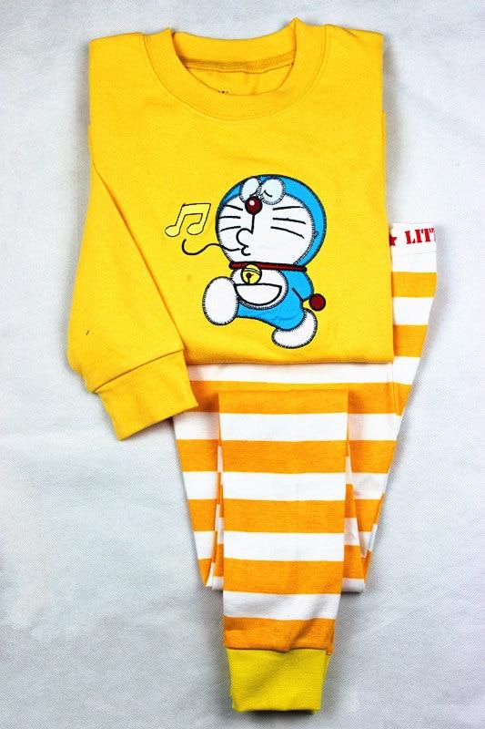 TP37, doraemon, 6sets, Children boys pajamas, long sleeve sleepwear/clothing sets for 2-7 year, thick cotton lycra