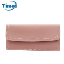 Europe Style 2017 New Women's Day Clutch Bag High Quality PU Leather Long Style Thread wallet Bag For Female Solid Hasp Bags