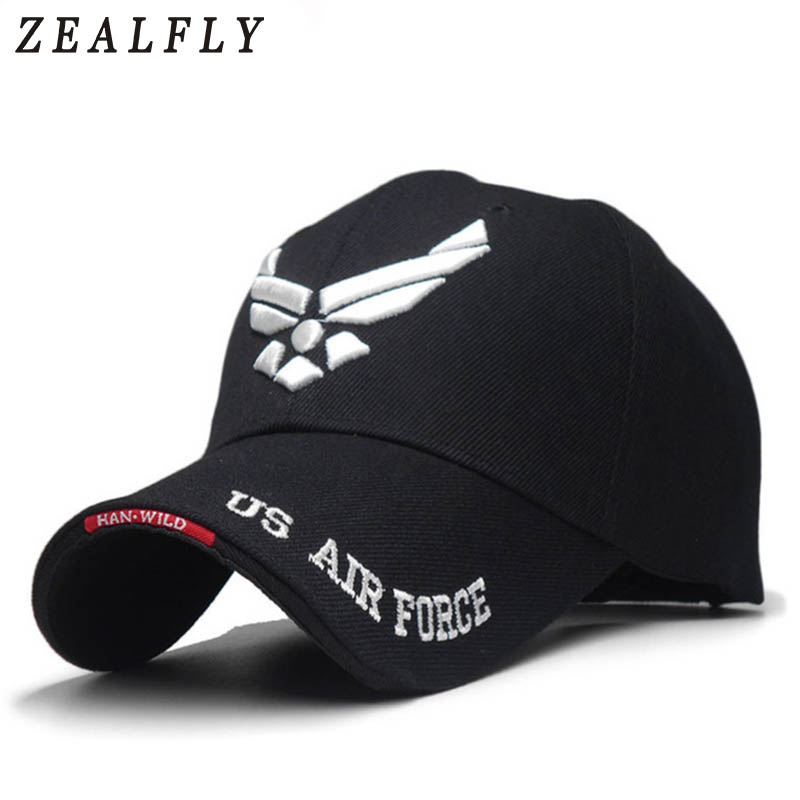 US Air Force Mens Baseball Cap Men Brand Embroidered Letters Tactical Caps Navy Seal Army Cap Outdoor Sports Black Hat