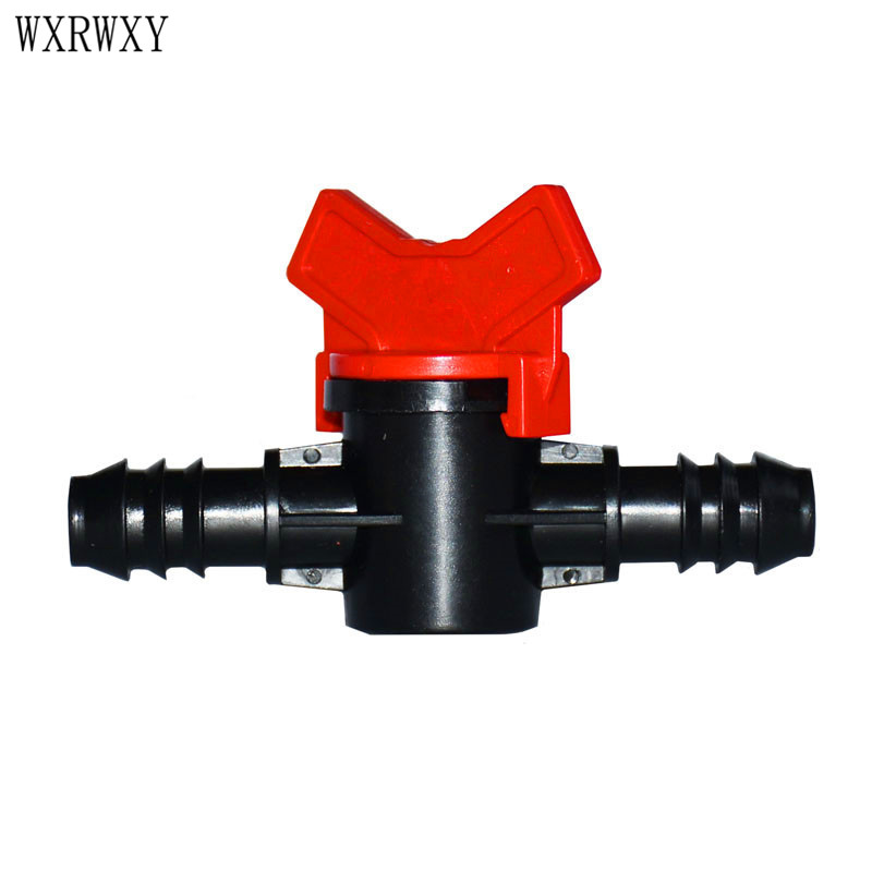 Wxrwxy Garden Hose Tap Barbed Double Way Irrigation Connector Garden Faucet 16 Mm Faucet Connector Irrigation Valve 2 Pcs