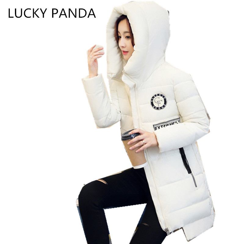 LUCKY PANDA 2016 WOMAN  new winter coat girl slim slim Hooded Jacket in the long section of students LKB184 sky blue cloud removable hat in the long section of cotton clothing 2017 winter new woman