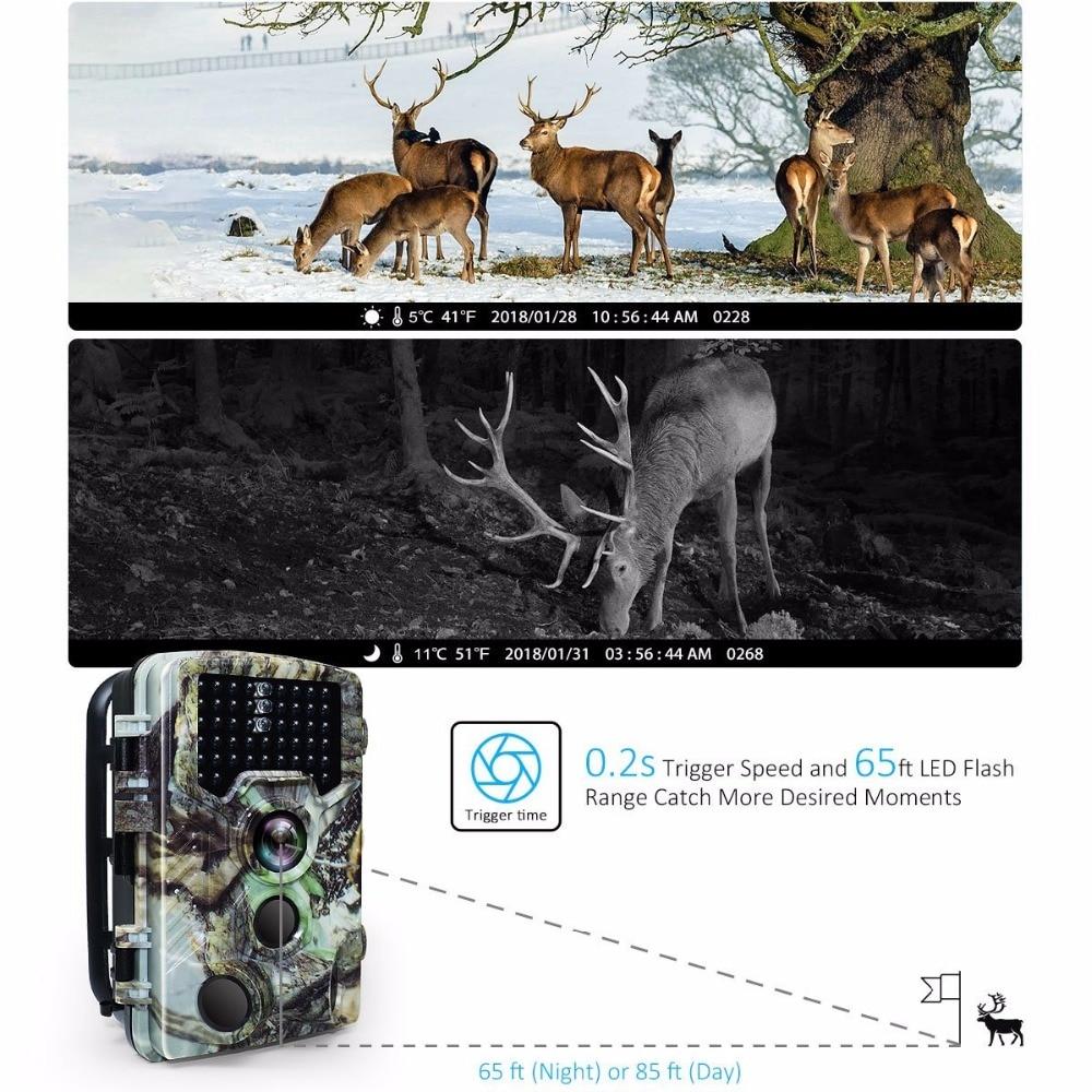 16MP Night vision 2.4LCD Hunting Wild Camera H881 Photo Trap 1080P IP56 Waterproof Infrared Trail camera 3