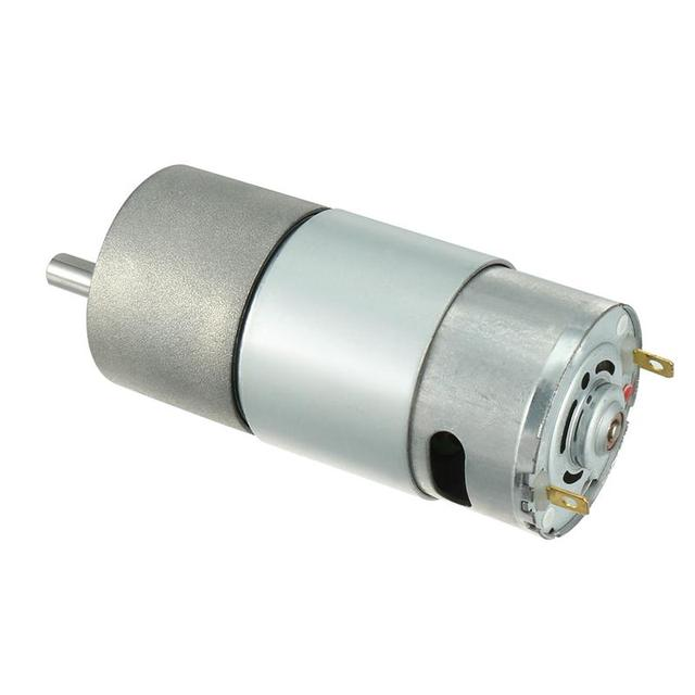 DC 12V 10/20RPM Motors 6mm Diameter Shaft Electric Gear Box Speed Reduce Replacement Motor High Torque 2 Terminals Connectors