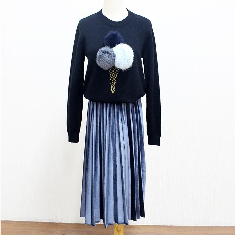 Women Long Metallic Silver Maxi Pleated Skirt Midi Skirt High Waist Elascity Casual Party Skirt 25