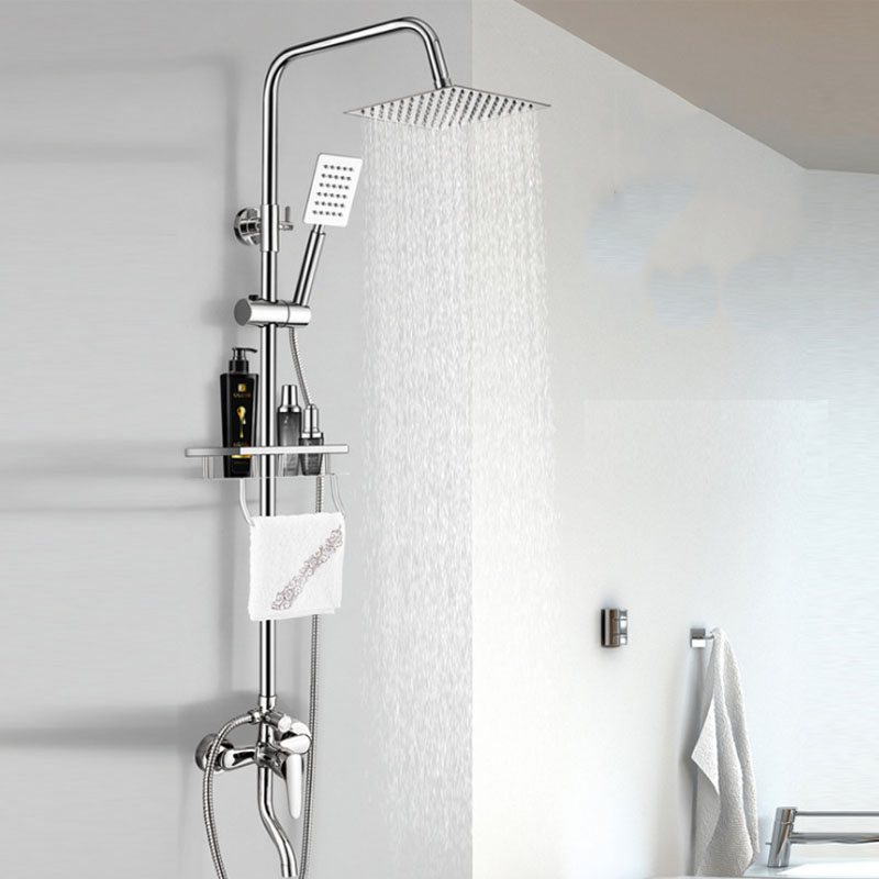 Bathroom Shower Set Rain Shower Head Bath Shower Mixer with Hand Shower cold and hot