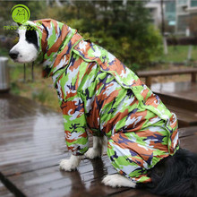 For Big Large Dog Camouflage Raincoat Pet Waterproof Clothes For Dog Jackets  Appreal for Labrador German Shepherd Samoyed