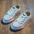 Classic Lona de Los Niños Zapatos de Las Muchachas Niños Sneakers Soft Sole Trainer Con Cordones Planos Ocasionales Niños Plimsolls Bebé (Niño/Niño grande)