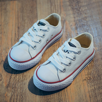Crianças clássicos Sapatos de Lona Meninas Meninos Sneakers Suave Sole Instrutor Casual Plimsolls Plana Lace-Up Do Bebê Dos Miúdos (Criança/Big Kid)