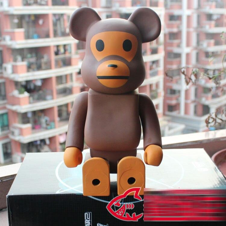 400/% Bearbrick BABY MILO BAPE Bear@brick Action Figures