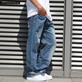 Mountainskin Men's Trendy Jeans Streetwear Retro Men's Jeans Hiphop Old Jeans Casual Loose Denim Jeans Plus Size 44 46,JA463