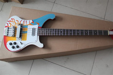 Red & Red Burst & Black & Blue & Natural & White & Colorful Rickenback custom 4003 4 string bass guitar ricken bass