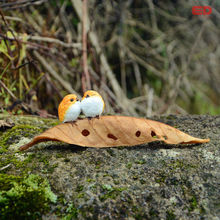 Miniaturas de COLETA DIÁRIA Jardim Figurinhas Aves Brinquedos Figura Animal Ação Acessórios Ornamento do Ofício da Resina