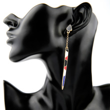Arrow Enamel Drop Earrings