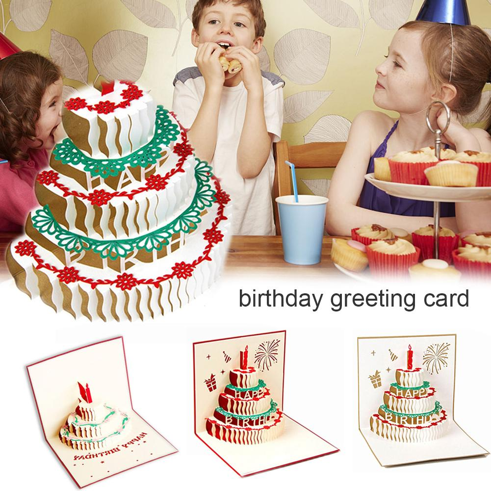 3d Diy Innovative Handmade Birthday Greeting Card Thank You Card