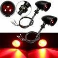 2Pcs Plastic DC12V 5W Moto LED Turn Signal Indicator Red Bullet Lights For Harley for Yamaha